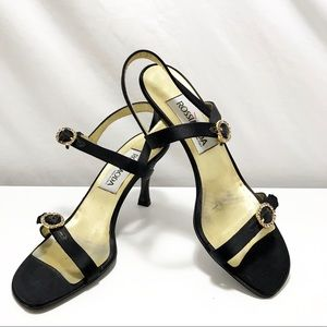 Vintage Rossimoda Formal Rhinestone Strappy Sandal
